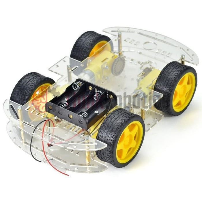4-Wheel Drive Smart Car DIY Kit (Extended Edition) - ThinkRobotics.in