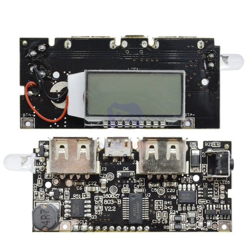 18650 battery charger power module with LCD - ThinkRobotics.in