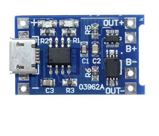 TP4056 Lithium Battery Charger Module - ThinkRobotics.in