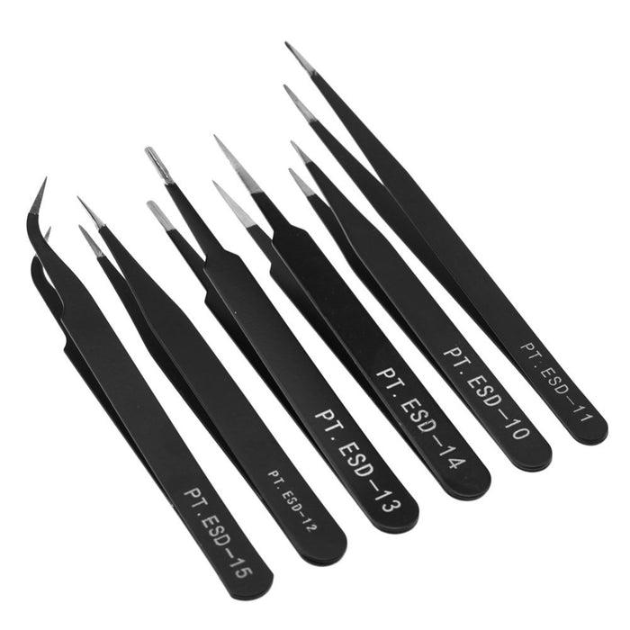 Anti-static Stainless Steel Tweezer - Straight - ThinkRobotics.in