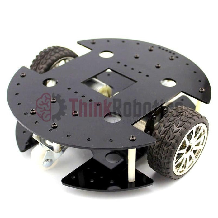 2-Wheel Drive (2WD) Robot Chassis with 37mm Motor - ThinkRobotics.in
