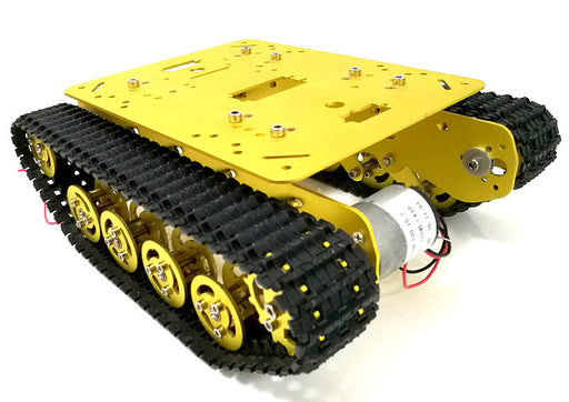 Shock Absorption Metal Robot Tank Chassis - ThinkRobotics.in