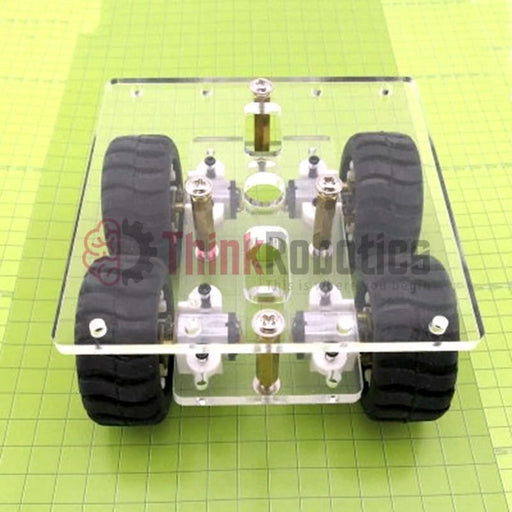 N20 4WD Robot Chassis - ThinkRobotics.in
