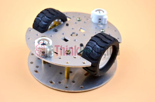 Mini 2-Wheel Drive (2WD) Robot Chassis with N20 Motor - ThinkRobotics.in