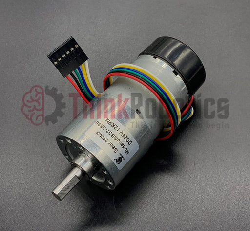 37mm DC Metal Geared Motors with Encoders - ThinkRobotics.in