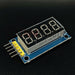 4 Digit Seven Segment Display Module with 74HC595 Shift Register - ThinkRobotics.in