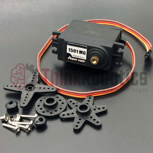 Large Metal Servo (Power HD 1501MG) - ThinkRobotics.in