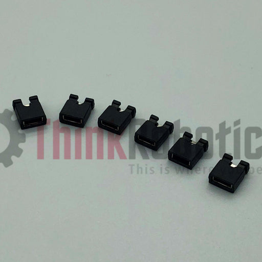2 Position 2.54mm Female Jumper / Shunt Socket (Pack of 25) - ThinkRobotics.in