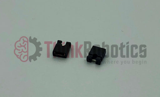 2 position 2.54mm Female jumper/shunt socket opens top jumper socket or shunt - Black housing that has High Force and Single Operation.