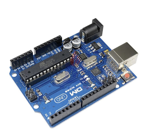 Arduino Uno is a microcontroller board based on the ATmega328P (datasheet). It has 14 digital input/output pins.
