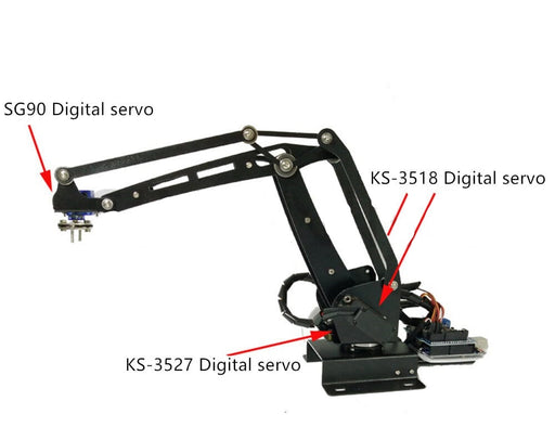 Mechanical Robot Arm ABB Industry Manipulator Stand with Full Digital Servo Controller - ThinkRobotics.in