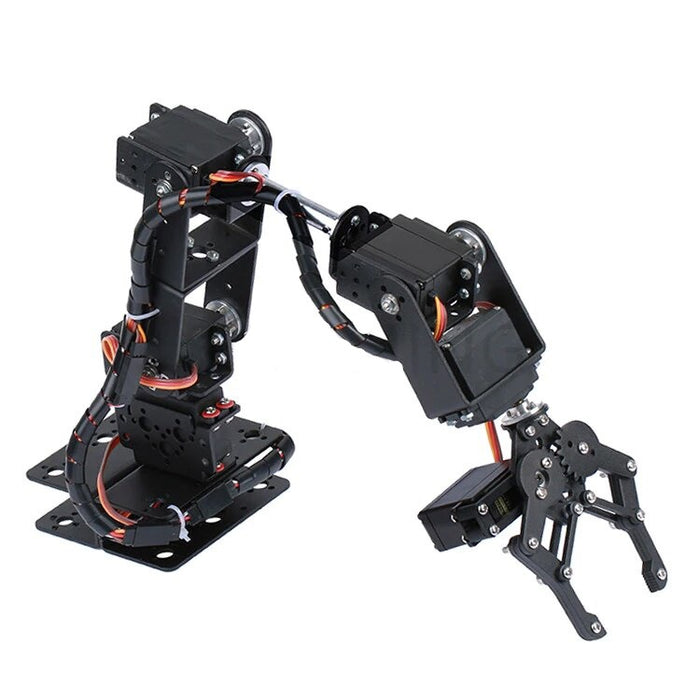 6 DOF Robot Manipulator Metal Alloy Mechanical Arm - ThinkRobotics.in