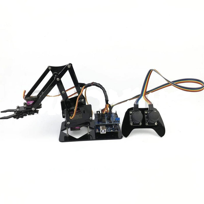 4DOF arduino Robotic Arm with PS2 Controller - ThinkRobotics.in