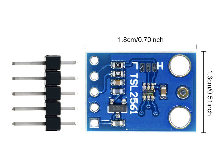 TSL2561 Digital Luminosity/Lux/Light Sensor - ThinkRobotics.in