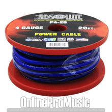 Load image into Gallery viewer, Absolute P420BK 4 Gauge Spool Multi-Strand 20 Feet Power Wire Cable (Blue)