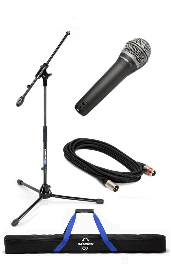 Samson Q7VP Complete Dynamic Mic with Q7 Mic, Boom Stand, Clip, Cable and Bag
