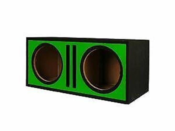 "Absolute Pdeb12gr (Green) Dual 12"" 3/4"" MDF Twin Port Subwoofer Enclosure"