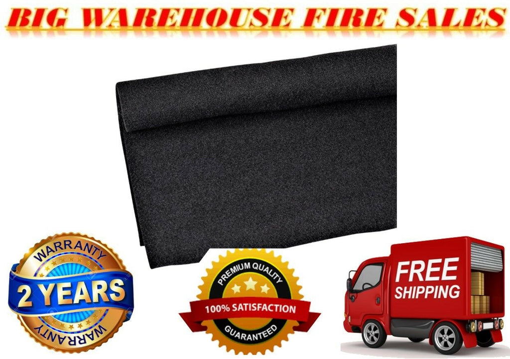 "Absolute 120"" X 48"" Black Car PA DJ Speaker Box Upholstery Liner Carpet"