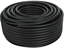 "Load image into Gallery viewer, 5 Ft 1"" Split Wire Loom Conduit Polyethylene Tubing Black Color Sleeve Tube RV"