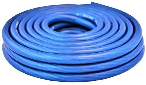 20 FT Blue 8 Gauge Primary Speaker Wire or Amp Power Ground Car Audio FLEXIBLE