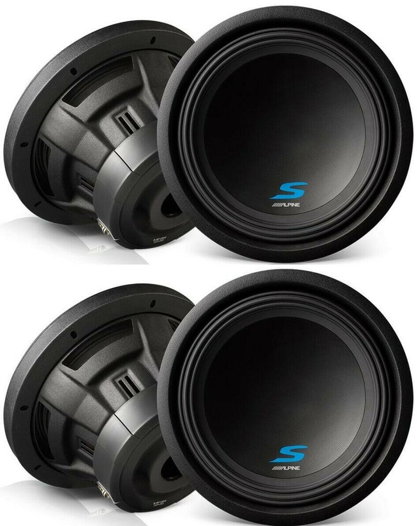 "2 Alpine S-W12D2 Car Subwoofer<br/>1800W Max, 600W RMS 12"" Type-S Series Dual 2 ohm Car Subwoofer"