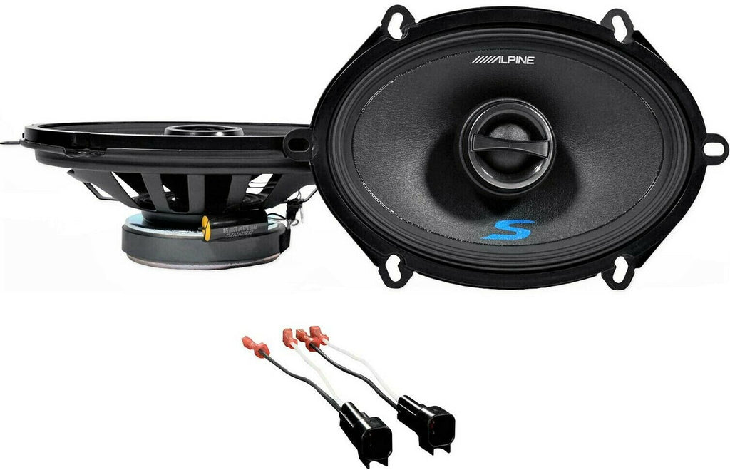 "Alpine S 5x7"" Rear Factory Speaker Replacement Kit For 2000-2010 Ford F-650/750"