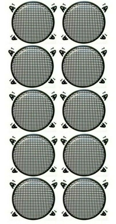 "10 XP Audio 12"" SubWoofer Metal Mesh Cover Waffle Speaker Grill Protect Guard DJ"