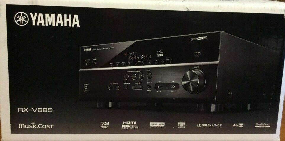 Yamaha RX-V685 7.2-Channel MusicCast A/V Home Theater Receiver RX-V685BL