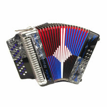 Load image into Gallery viewer, Rossetti Huracan 3112 31 Buttons 12 Bass Accordion FBE, Grey/Blue/Black