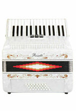 Load image into Gallery viewer, Rossetti Piano Accordion 32 Bass 30 Piano Keys 3 Switches White