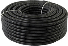 "Load image into Gallery viewer, MR DJ 50' Feet 1/4"" Black Split Loom Wire Flexible Tubing Wire Cover"