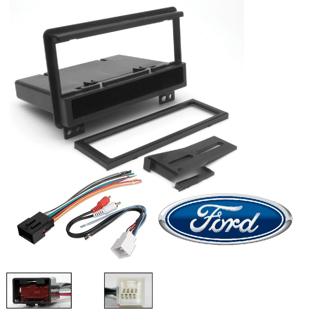 Car Radio Stereo Single Din Dash Kit Harness for 1998-up Ford Lincoln Mercury