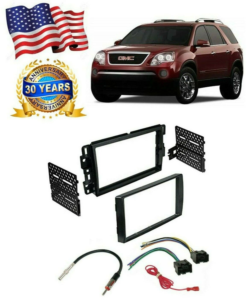 American T Car Stereo 2Din Dash Kit Harness for 2006-16 Buick Chev GMC Pontiac