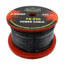 Load image into Gallery viewer, Absolute P8250BK 8-Gauge Spool Power Wire Cable, 250 Feet (Black)