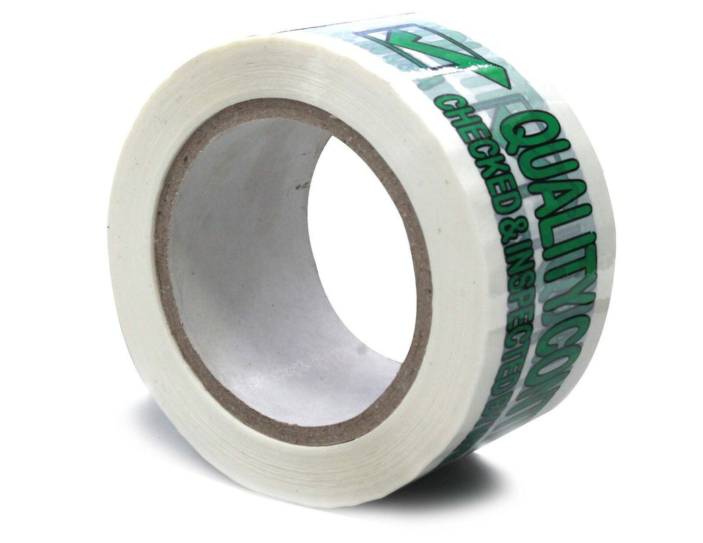 "4 Rolls 3MIL Printed Quality Control Checked & Inspected by Mfg. In the USA TAPE 2.5"" X 110 YARD"
