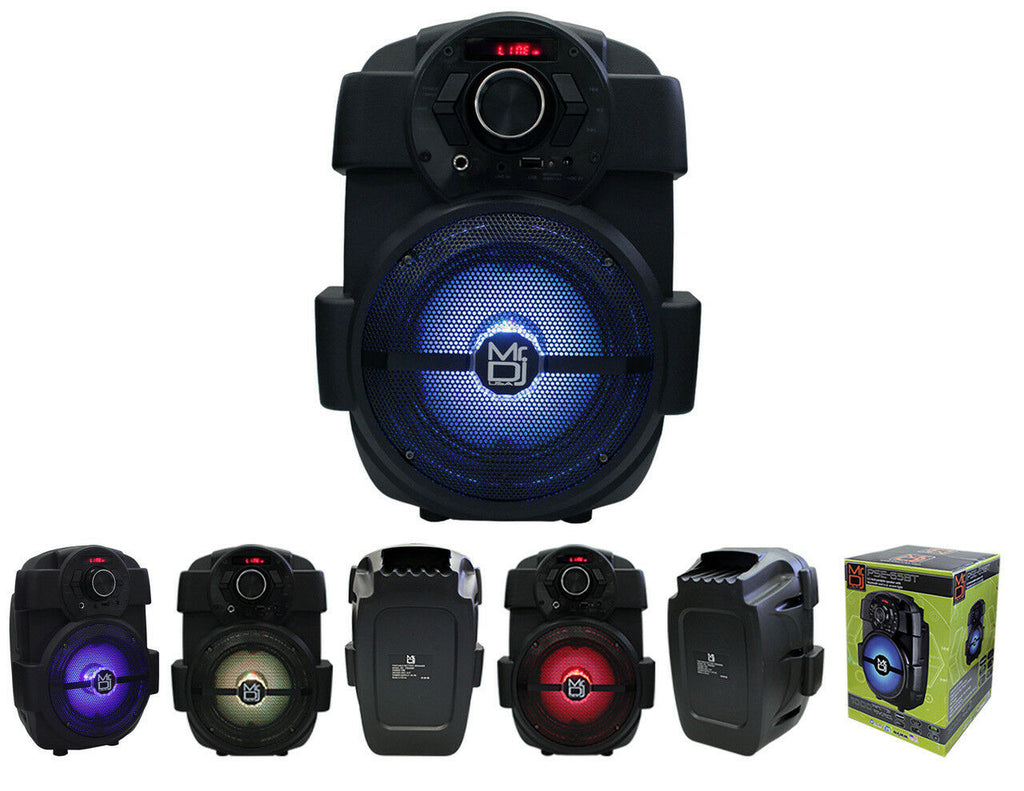 "6.5"" Bluetooth Portable Rechargeable PA DJ Party Speaker USB/FM/LED MP3 Player"