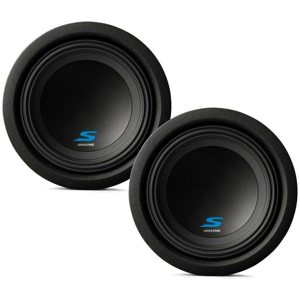 "2 Alpine S-W8D4 Car Subwoofers<br/> 900W Max (300W RMS) 8"" S-Series Dual 4 Ohm Car Subwoofers"