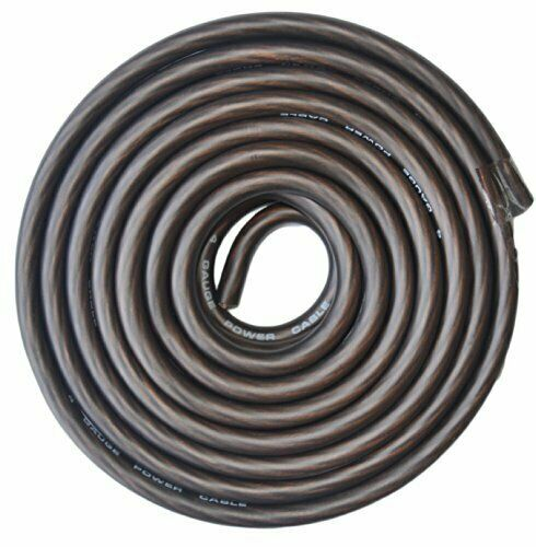 8 Gauge 250 Feet BLACK Power Primary Ground Wire Copper Mix Flexible Cable