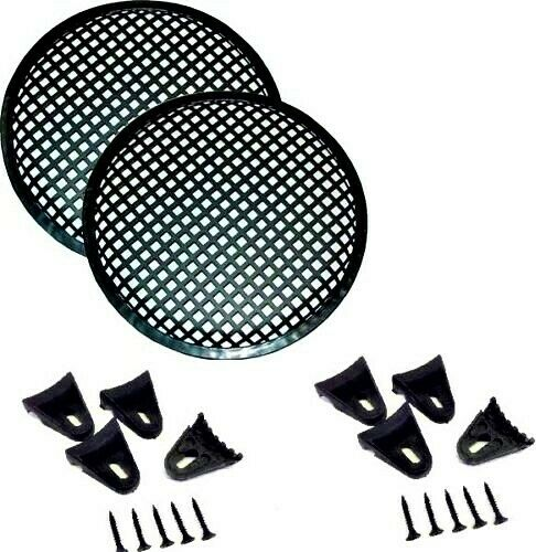 "(2) Absolute DJS12 Grill <BR/>12"" Inch Universal Speaker Subwoofer Grill Mesh Cover W/ Clips Screws Guard"