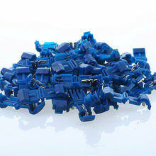 Load image into Gallery viewer, TT1416B 100 BLUE T-TAPS 16-14 GAUGE WIRE TERMINALS SPLICE TAP