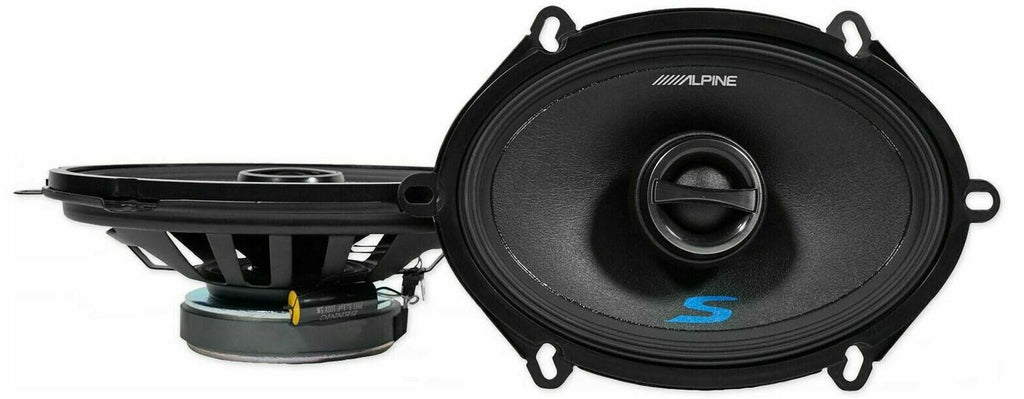 "Alpine S-S57 Car Speaker<br/>460W Max (150W RMS) 5"" x 7"" Type-S 2-Way Coaxial Car Speakers"
