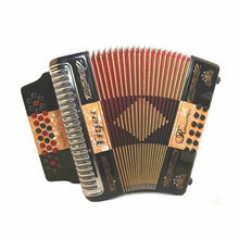 Load image into Gallery viewer, Rossetti Tiger 3112 31 Button 12 Bass Accordion GCF, Black/Gold