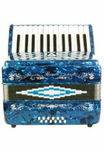 Load image into Gallery viewer, Rossetti Beginner Piano Accordion 12 Bass 25 Keys Blue