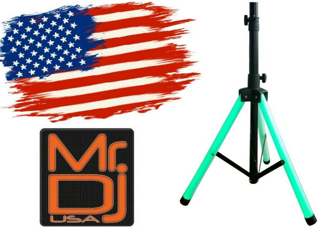 MR DJ Universal Color Stand LED Tripod Speaker Stand w/Color LED's + Remote