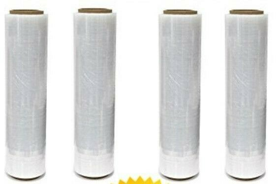 "A/ T 18"" X 1500SQ FT 4 ROLLS 80 Gauge  Pallet Wrap Stretch Film Shrink Hand WRAP"