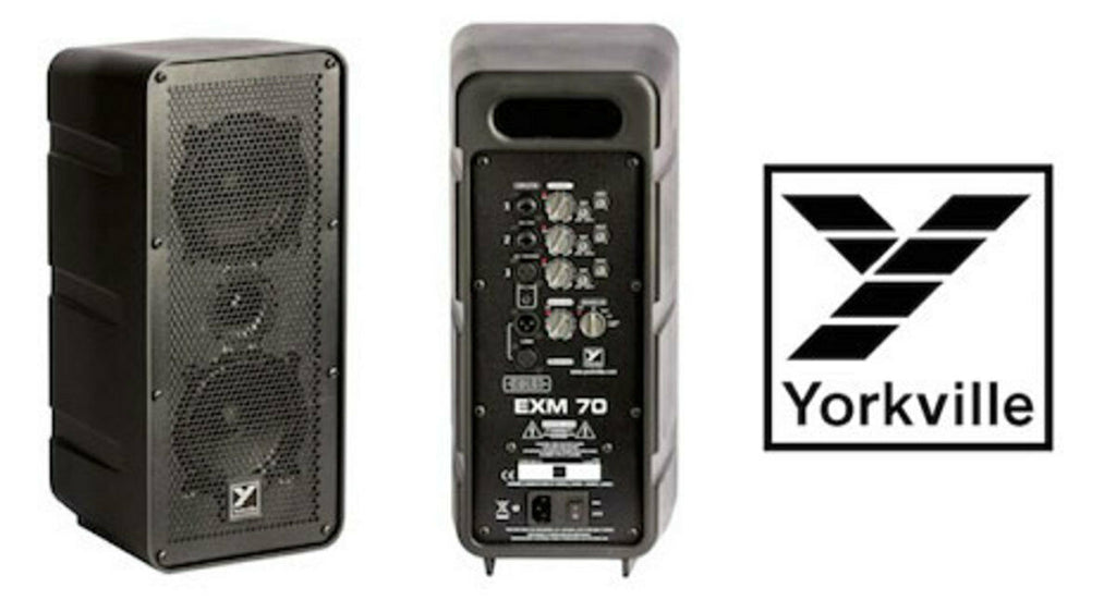 "NEW! YORKVILLE, EXM70 Ultra Compact Dual 5"" Powered Portable PA Speaker"