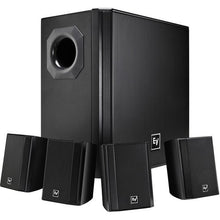 Load image into Gallery viewer, Electro-Voice EVID-S44 One Subwoofer and Four-Satellite Wall Mount Speaker System (Black)