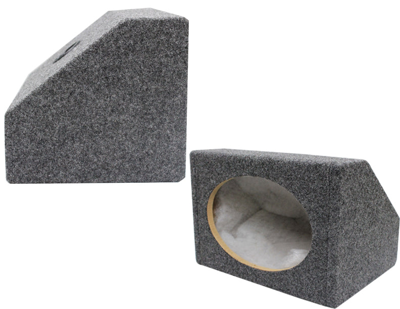 "Absolute 6x9PKG<BR/>MDF Angled Style 6""x9"" Gray Car Audio Speaker Box Enclosures"