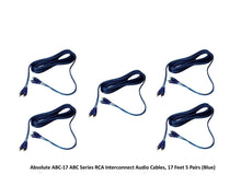 Load image into Gallery viewer, Absolute ABC-17 ABC Series RCA Interconnect Audio Cables, 17 Feet - 5 Pair (Blue)