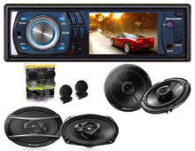 Load image into Gallery viewer, Absolute DMR-380 3.5-Inch In-Dash Single Din ReceiverWith Pioneer TS-G1645R 6.5, TS-A6966R 6x9 Speakers And Free Absolute TW600 Tweeter